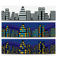 Night Downtown Banners vector image