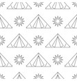 seamless pattern camping vector image