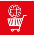 shopping cart buy discounts vector image
