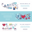Healthcare medical services banners set vector image