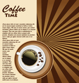 Cup of coffee retro background vector image