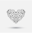 ornamental heart - floral design vector image