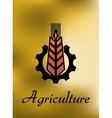 Agriculture emblem with gear and ear vector image vector image