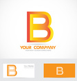 Letter b orange 3d logo icon vector image