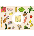 food design doodles vector image vector image