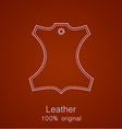 Leather original vector image