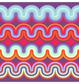 geometric seamless abstract wave pattern vector image vector image