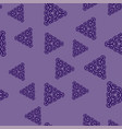 blue triangles on violet vector image