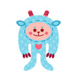 cute cartoon monkey animal toy colorful vector image