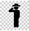 gentleman salute icon vector image
