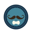 seal stamp with mustache vector image