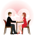 Loving couple on a date in the cafe vector image vector image