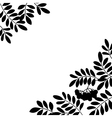 Rowanberry background silhouette vector image vector image