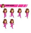 running career woman game sprite vector image