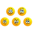 Five different smiles expressions vector image vector image