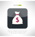 Simple money bag icon made in modern clean and vector image