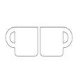 Cup symbol vector image vector image