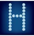 vector diamond alphabet letter h vector image vector image