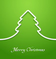 Green abstract christmas tree applique vector image vector image