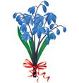Bouquet blue snowdrops vector image vector image