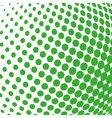 green color halftone sphere abstract design vector image