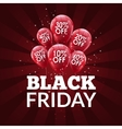 Black Friday Sale background Discount balloons vector image