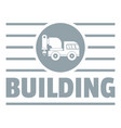 building company logo simple gray style vector image