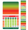 calendar griddecember january february vector image