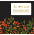 Card with the image of barberry vector image