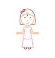 cartoon girl icon vector image