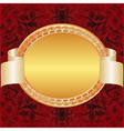 Gold red background vector image