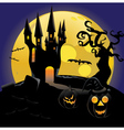 Haunted halloween Castle vector image