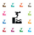 isolated swimmer icon swimming element c vector image