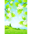 Landscape with Tree Branch vector image
