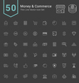 Money and Commerce Thin Icon Set vector image