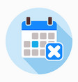 reject calendar day icon vector image