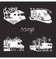 set lettering travel typographic camp vector image
