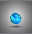Techno globeinternet technology world logo vector image