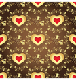 Valentine seamless brown pattern vector image