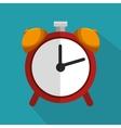 red clock time school icon blue bakcground vector image