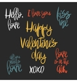 Set of 7 decorative handdrawn lettering vector image