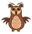set isolated emoji character cartoon joy owl vector image