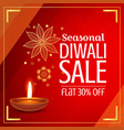 beautiful diwali sale offer and discount with vector image
