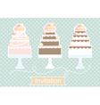 Invitation design with decorative cakes vector image