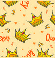 Pattern style crown theme collection vector image