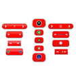 different buttons vector image