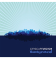 blue cityscape vector image