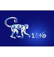 Oriental horoscope Year of the Monkey vector image