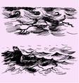 sea ocean wave vector image vector image