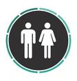 man and woman computer symbol vector image